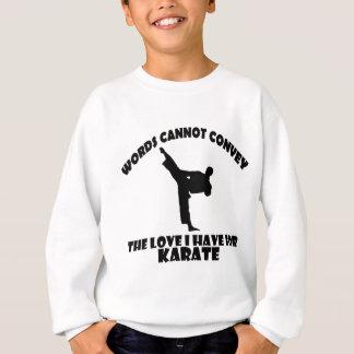 Diseños del karate sudadera