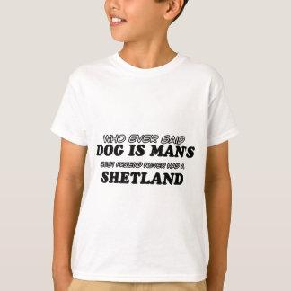 Diseños del mascota de Shetland Camiseta