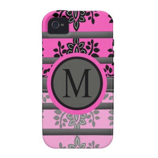 Diseños del monograma iPhone 4/4S carcasas