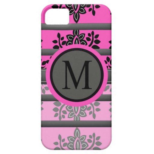 Diseños del monograma iPhone 5 cárcasa