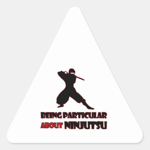 diseños del ninjutsu pegatinas de triangulo personalizadas