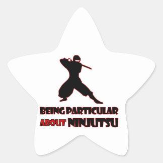 diseños del ninjutsu pegatina en forma de estrella