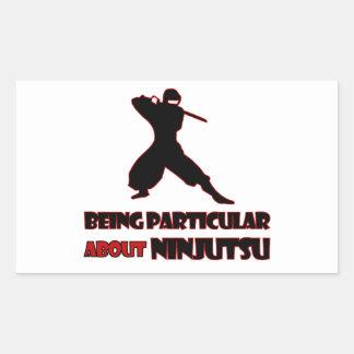 diseños del ninjutsu pegatina rectangular