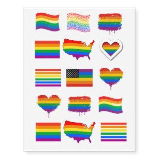 Diseños del orgullo gay tatuajes temporales