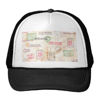 Diseños del papel veteado gorros