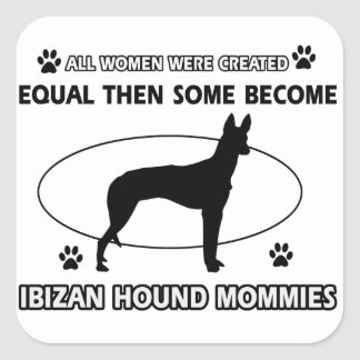 Diseños del perro de caza de Ibizan Pegatina Cuadrada