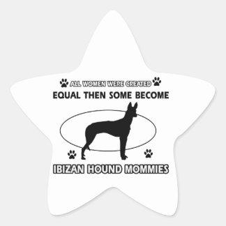 Diseños del perro de caza de Ibizan Pegatina En Forma De Estrella