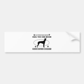 Diseños del perro de caza de Ibizan Pegatina Para Coche