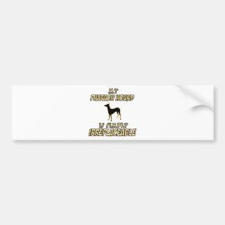diseños del perro de caza del pharaoh pegatina para coche
