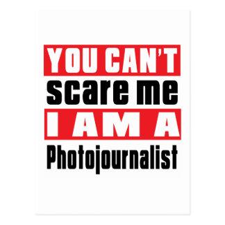 Diseños del susto del periodista fotográfico postal