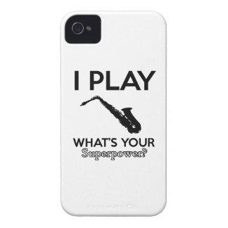 diseños divertidos del saxofón funda para iPhone 4 de Case-Mate