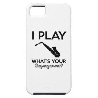 diseños divertidos del saxofón funda para iPhone SE/5/5s