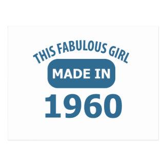 diseños fabulosos de 1960 años postal