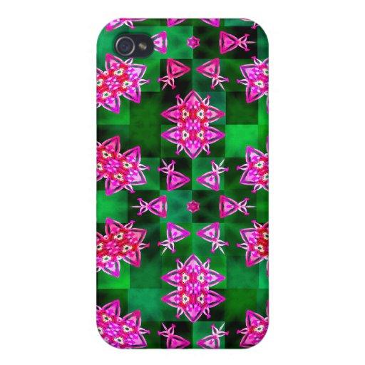 Diseños florales abstractos iPhone 4 protectores