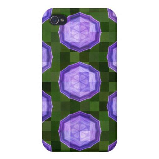 Diseños florales abstractos iPhone 4 carcasa
