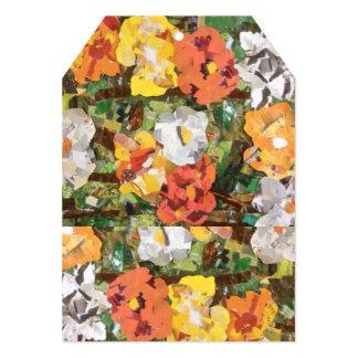 diseños florales del papel de la etiqueta de la invitación 12,7 x 17,8 cm