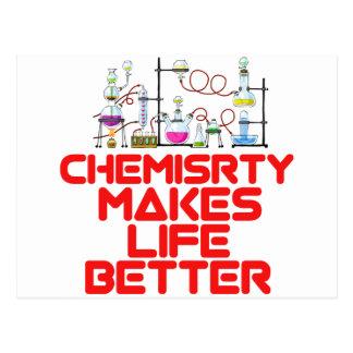 Diseños frescos de la química postal