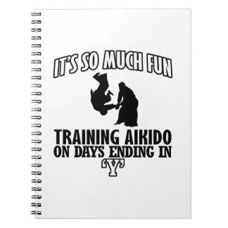 DISEÑOS frescos del Aikido que tienden Cuaderno