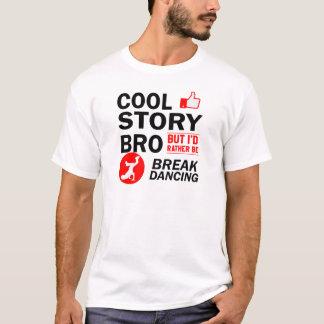 Diseños frescos del break dance camiseta