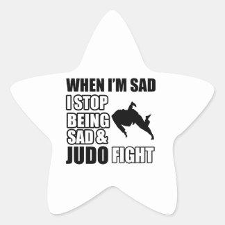 Diseños frescos del judo pegatina en forma de estrella