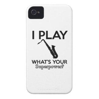 diseños frescos del saxofón carcasa para iPhone 4 de Case-Mate