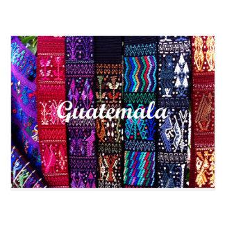 Diseños guatemaltecos de la materia textil postal