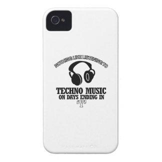 diseños impresionantes de la música de Techno iPhone 4 Cárcasas