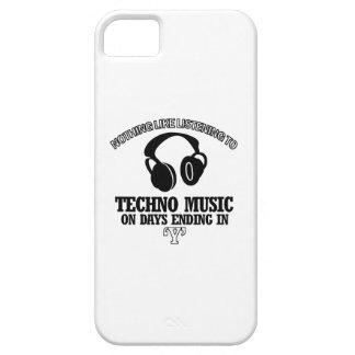 diseños impresionantes de la música de Techno iPhone 5 Funda