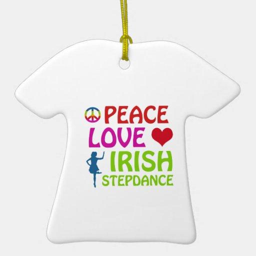 diseños irlandeses de la danza del paso ornaments para arbol de navidad