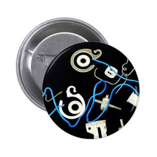 diseños laterales abstractos metálicos de la lona pin