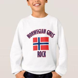 DISEÑOS noruegos de la roca de los chicas Sudadera