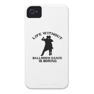 DISEÑOS preciosos de la danza de salón de baile iPhone 4 Cárcasa