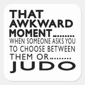 Diseños torpes de ese judo del momento pegatina cuadrada