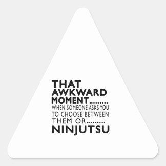 Diseños torpes de ese Ninjutsu del momento Calcomania Trianguladas Personalizadas