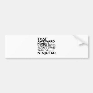 Diseños torpes de ese Ninjutsu del momento Pegatina Para Coche