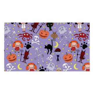Disfraces de Halloween en púrpura Tarjetas De Visita