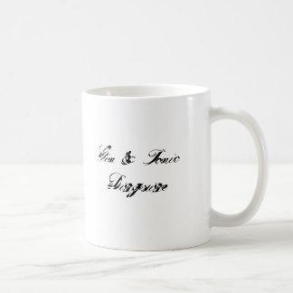 Disfraz de la ginebra y del tónico tazas de café