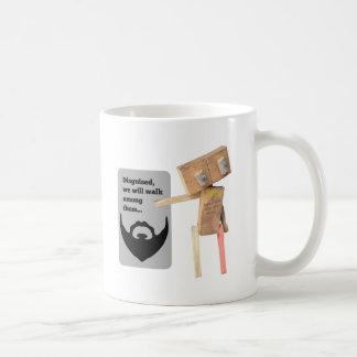 Disfraz del robot taza de café