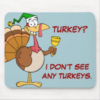 Disfraz divertido de Turquía de la acción de graci Alfombrilla De Ratón