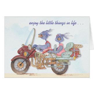 Disfrute de las pequeñas cosas - tarjeta de