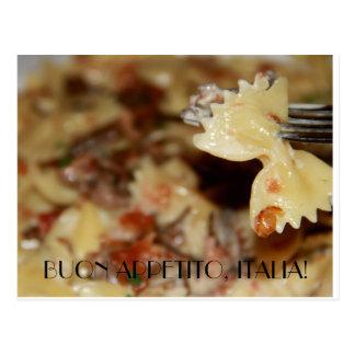 Disfrute de su comida en italiano postal