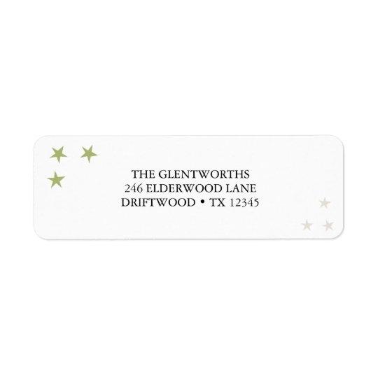 Disfrute la etiqueta del remite del navidad etiqueta de remitente