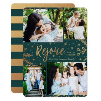 Disfrute verde del efecto metalizado de la tarjeta invitación 12,7 x 17,8 cm