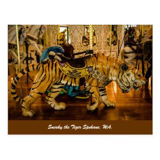 Disimulado el tigre Spokane, WA. Postal