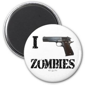 Disparo contra a los zombis 2 imán de frigorifico