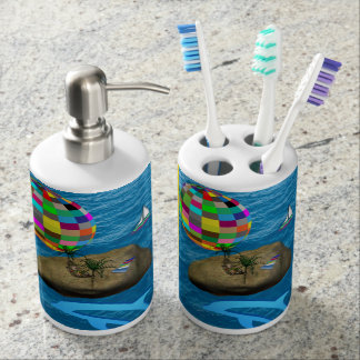 dispensador del jabón del cepillo de dientes del