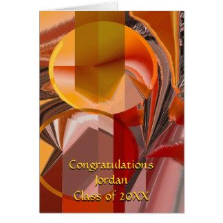 Dispositivo extracto rojo y del naranja tarjeta de felicitación