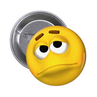 Dissapointed y botón sonriente triste de la cara