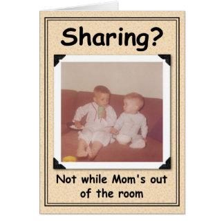 Distribución de momentos dulces de la maternidad tarjeta de felicitación