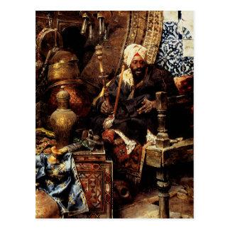 Distribuidor autorizado árabe entre sus antigüedad postales